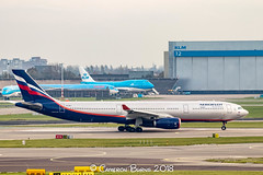 """Aeroflot VQ-BPJ A330-300 (IMG_1872) (Cameron Burns) Tags: aeroflot su cqbpj vbrumel airbus airbus330 airbus330300 airbus333 a330 a330300 a333 svo sheremetyevo moscow russia white blue red silver amsterdam schiphol airport amsterdamschipholairport """"amsterdam schiphol"""" ams eham airfield aviation aerospace airliner aeroplane aircraft airplane plane canoneos80d canoneos eos80d canon80d canon eos 80d netherlands holland dutch haarlemmermeer """"luchthaven luchthaven europe action"""