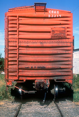 CB&Q Class SM-19B 53019 (Chuck Zeiler 54) Tags: cbq class sm19b 53019 burlington railroad stockcar stock car freight train chz fugta