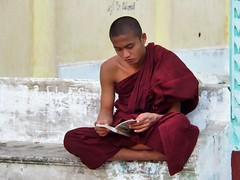 Mandalay - Monk (sharko333) Tags: travel reise voyage asia asien asie myanmar burma birma mandalay street portrait people man monk olympus em5