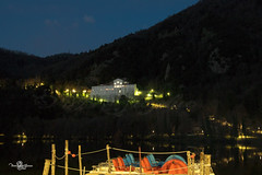 #Laghi di #Monicchio (vera.basso89) Tags: lago pedalò badia luci riflessi lake sunset melfi rionero vulture alberi