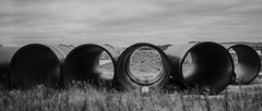 drainage pipes (Redheadwondering) Tags: sonyα7ii sonyf1450mmlens blackwhite bw salisbury wiltshire 92somethingthatyoutakeforgranted 92 drainagepipes pipes 119picturesin2019