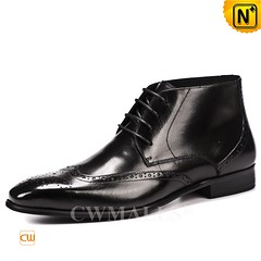 Mens Leather Boots | CWMALLS® London Leather Brogue Ankle Boots CW719003 [Free Shipping] (cwmalls2018) Tags: men leather brogue boots shoes fashion shopping black