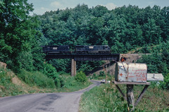 Boone's Mill (jameshouse473) Tags: boones mill virginia nw ns norfolk western southern ge coal roanoke railway 1983