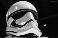 Star Wars & the Power of Costume - First Order Stormtrooper in B&W (J.L. Ramsaur Photography) Tags: bw blackwhite blackandwhite nik niksilverefexpro2 silverefex nikcollection monochrome colorless jlrphotography nikond7200 nikon d7200 photography photo cincinnatioh thequeencity hamiltoncounty ohio 2017 engineerswithcameras thequeenofthewest photographyforgod thesouth southernphotography screamofthephotographer ibeauty jlramsaurphotography photograph pic cincinnati tennesseephotographer cincinnatiohio thebluechipcity nati thecityofsevenhills queencity porkopolis thenati nastynati cincy starwarsandthepowerofcostume starwars thepowerofcostume smithsonianinstitutiontravelingexhibitionservice lucasmuseumofnarrativeart lucasfilmltd costume powerofcostume exhibit anewhope returnofthejedi theempirestrikesback revengeofthesith thephantommenace attackoftheclones theforceawakens rogueone starwarscharacters characters cincinnatimuseumcenter theforce maytheforcebewithyou empire rebels rebellion thedarkside jedi goodvsevil galacticsenate thelastjedi firstorderstormtrooper stormtrooper stormtrooperhelmet firstorderstormtrooperhelmet