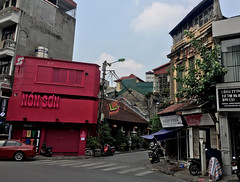 Non Son (cowyeow) Tags: hanoi vietnam asia asian street urban city woman composition travel pink shop store retail sign