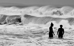 You First! (Vibrimage) Tags: pounding atlantic winter wind breakers swimmers waves surfing erik clapelporth cornwall storm sea