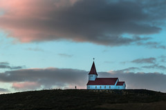 Reyniskirkja (marionrosengarten) Tags: vik iceland church kirkja kirche clouds sky skyporn light sunset island evening moody nikon reyniskirkja humanelement