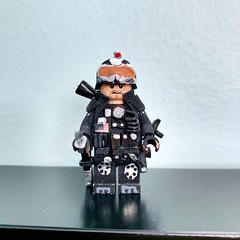 Very first try at custom minifigures back in 2015. This is supposed to be a character from the cover of BF4 however with some tweaks and imperfections, it turned out to be something from Spec Ops: Night Operations. Overall, satisfied. (X-Eclipse Ace) Tags: custom minifigure lego military
