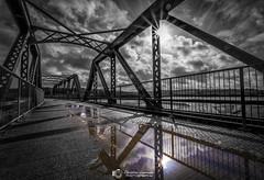 Architectural Sunburst (Chris Lawrence Photos) Tags: architecture architecturephotography monochrome bridge padstow sunburst