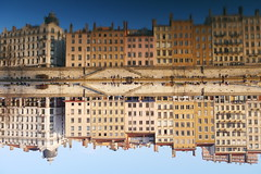 Magic world (Croix-roussien) Tags: fabuleuse lyon france river reflection graphics urban upsidedown colors water