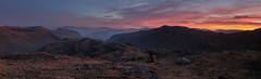Sunrise Over Camp, The Lake District (dandraw) Tags: thelakes thelakedistrict cumbria wildcamp wildcamping adventure outdoors mountains sunrise drama dramatic panoramic pano panorama tents skiddaw blencathra landscape