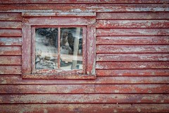 Rustic Red (vanessa violet) Tags: worn weathered rusticred red shed home house window windowwednesday happywindowwednesday hww texture blowmedown portdegrave