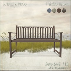 "MadPea Spring Hunt Collaborator -  ""Spring Bench"" by [Schultz Bros.] (MadPea Productions) Tags: madpea productions madpeas spring hunt prizes prize decor collaborators collaboration collaborations fun excitement"