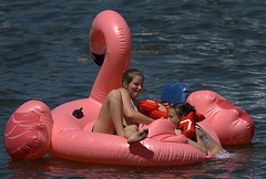 Fun In The Sun (Scott 97006) Tags: inflatable kids girls fun play water river sunshine