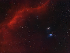 Barnard's loop and m78 (MaGeOl) Tags: nebula astrophoto astrophotography astronomy stars space sky star telescope filters dust texture galaxy galaxies night light m78 bernard loop