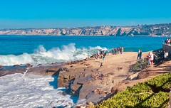 Seal Rock in La Jolla, California (lhboudreau) Tags: landscape sky coastline coast animals animal seashore shore rocky rock waves wave surf water ocean sea outdoor people sealrock sealions sealion seals seal waterfront lajollacove california lajolla