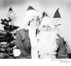 """1984   Ed Hilton  """"Southend Santa"""" and wife (albany group archive) Tags: 1980s christmas old albany ny vintage photos picture photo photograph history historic historical"""