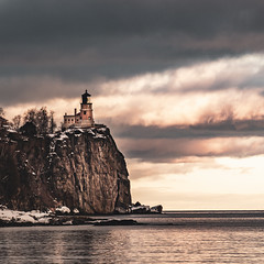 Split Rock Lighthouse winter sunset (Alvin Sangma Photography) Tags: ngc nikon splitrock nature ellingsonisland winter naturephotography mn landscape nikkor ironrange minnesota greatlakes
