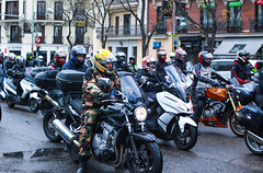 IMG_5107-1 (Goldenwaters) Tags: madrid motor motorcycle motorbike strike parade capitalcity featureshoot feature subjective city streetphotography spain españa transport citylife urban event roadtrip cyclist 50d