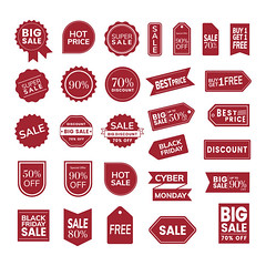 Set of promotion badge vectors (nobir899) Tags: ad advertisement advertising badge banners big business buying campaign clearance collection commerce concept coupon deal design discount event gift graphic holiday illustrated illustration isolated label logo marketing offer poster present promotion promotional red retro sale save season selling set shape shop shopping special store tag template vector white whitebackground