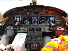 Cockpit N750GF Cessna Citation 750X (Aircaft @ Gloucestershire Airport By James) Tags: gloucestershire airport cockpit n750gf cessna citation 750x egbj james lloyds