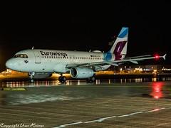 Eurowings OE-LYX HAJ at Night (U. Heinze) Tags: aircraft airlines airways airplane flugzeug planespotting plane haj hannoverlangenhagenairporthaj eddv olympus