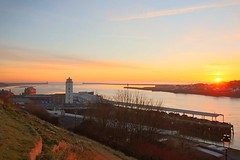 North Shields (pshep1) Tags: northtyneside northshields sunrise rivertyne river tynemouth sky sea northeast england greatbritain uk unitedkingdom lowlights lighthouse fishquay