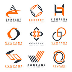 Set of company logo design ideas vector (nobir899) Tags: abstract art artwork brand branding business collection color colorful company concept corporate creative design emblem geometric graphic icon idea identity illustrated illustration innovation isolated isolatedonwhite line logo logotype modern name sample set shape sign symbol technology template unique vector whitebackground