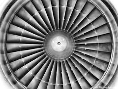 Teil eines Ganzen /Part of a whole (Mike Reichardt) Tags: minimalism minimal lessismore details dwwg blackwhite blancetnoir monochrome schwarzweiss turbinenblatt turbine flugzeug triebwerk enginge jet