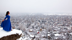 A blue Christmas (OneLifeOnEarth) Tags: onelifeonearth winter snow blue pm billings montana girl landscape self portrait poetry