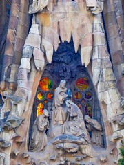 Crowning Glory (Douguerreotype) Tags: glass barcelona art statue buildings catalunya spain sagradafamilia arch architecture cathedral gaudi city window church