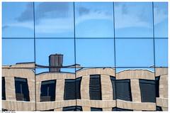 Spiegelungen / reflections (Reto Previtali) Tags: kamin sonne sonnenschein spiegelungen reflections color farben striche abstrakt nikon nikkor tamron flickr digital fassade coth5 design blue blau fun