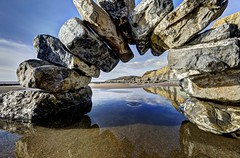 Fall Fall Fall (pauldunn52) Tags: arch environmental art traeth mawr witches point glamorgan heritage coast wales