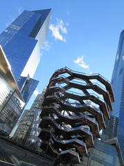 Visiting The Vessel Sculpture at Hudson Yards 4151 (Brechtbug) Tags: 2019 march visiting the vessel sculpture hudson yards tower near 34th street midtown manhattan new york city nyc 03172019 west side construction center cityscape architecture urban landscape scape view cityview shadow silhouette december close up skyline skyscraper railroad rail yard train amtrak tracks below grown stair stairs buildings above staircase dingus nypd mini squad cars tiny