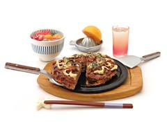 Washoku Biyori # 10 (MurderWithMirrors) Tags: rement miniature food meal mwm chopsticks chopsticksrest bowl orange juicer glass drink spatula platter board okonomiyaki japaneseseasonalfood japaneseweatherfood japanesecuisineday