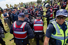 JMP_9099 (Julian Meehan) Tags: stkilda farright protest melbourne police crowd australia arrests arrest australian victoria