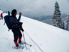 Snowshoing (wirehead) Tags: em5mk2 14150mm kristin snowshoe lassen lassenvolcanic