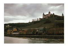 The Old Bastion (Thomas Listl) Tags: thomaslistl color 50mm würzburg mood atmosphere dark cityscape waterscape sky clouds sinister mysterious fortress bastion marienfestungwürzburg main river water tones contemporarylandscape ngc