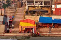 Varanasi, India (Ninara) Tags: varanasi india uttarpradesh ghat ganges ganga gangaaarti sadhu nagasadhu sunrise morning bathing holycity shankaracharyaghat shankaracharya kashi benares