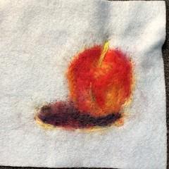 Needle felting of an Apple. #paintingwithwool #needlefelting #apple #process #cockatiel #bird #parrot #art #craft #feltingakolamble (akolamble) Tags: paintingwithwool needlefelting apple process cockatiel bird parrot art craft feltingakolamble