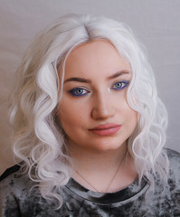 White Queen (Silje Roos) Tags: hotgirl hot girl hotwoman photo photos photoshoot portrait photography photographys picture pretty pale people photograph pastel pink lips beauty model models beautful woman women girly fresh whitehair white hair style fashion inspiration news celebs makeup