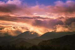 Fantasy Sunrise (Ed Cheremet) Tags: arizona canon60d edcheremet fomapanacros100 goodyearaz phoenixarizona sonorandesert arizonasunsrise canon clouds desert estrellamountains fog landscape mountain mountains phoenix sunrise