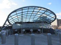 34th St Subway Station Entrance Jacob Javits Center 4177 (Brechtbug) Tags: 2019 march 34th st subway station entrance jacob javits convention center near hudson yards midtown manhattan new york city nyc 03172019 west side construction cityscape architecture urban landscape scape view cityview shadow silhouette close up skyline skyscraper railroad rail yard train amtrak tracks below grown buildings above patricks day saint patrick irish holiday