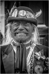 All Smiles at the Stroud Wassail! (Andy J Newman) Tags: man silverefex stroud morris street d500 portrait nikon morrisdancer wassail blackandwhite gloucestershre beard england unitedkingdom gb