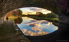 Rochdale Canal Tow Path (Fermat 48) Tags: rochdale canal water reflection phonecamera clouds grandson bridge shadows sunset
