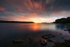 Conjola Colour Bomb (scotty-70) Tags: lakeconjola lake water sunrise color clouds rocks seascape goldenhour morning