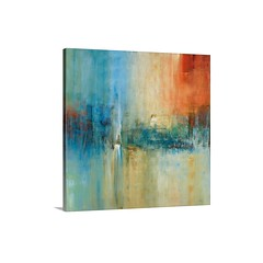 Blue Cascade Wall Art - Canvas - Gallery Wrap A square abstract painting with strong vertical movement and dramatic use of color. The serene composition and simplistic textures are ideal for the living room or office.   Check out our website: https://spac (spaceplug) Tags: photooftheday canvas shop marketplace mood spaceplug cascade buy sell wallart like4like photo bluecascade products followus photography follow4follow