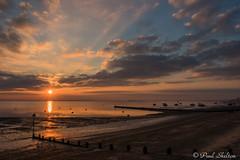 _1200042 (Paul_sk) Tags: winter sunset shoeburyness essex river thames beach mud boats clouds sun sky southendonsea