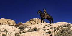 02469376422327-111-19-04-A Cowboy and His Horse-3 (You have failed me for the last time Jim) Tags: 2018 america april canon5dmarkiv mojavedesert nevada people redsprings tamron2470mmf28divcusdg2 usa calicobasin cowboy cowgirl horse horseback spring