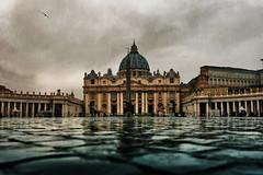 San Pietro (Japo García) Tags: vatican saint peters square church catolic religion art storic floor rain torment reflection